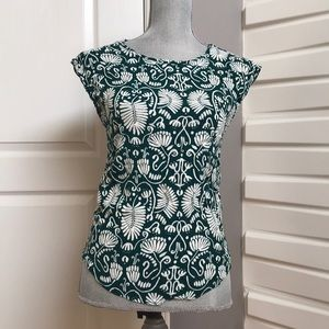 H&M Green Patterned Top